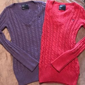 American Eagle 🦅 | Bundle 2 CableKnit Sweaters🌈